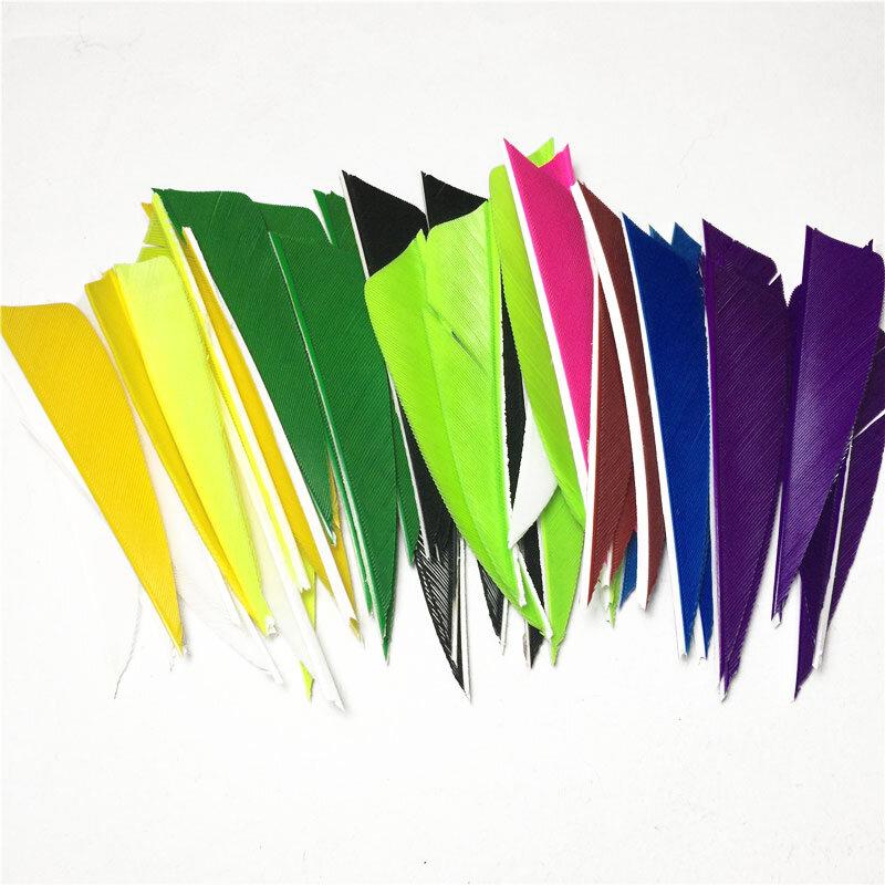 50pcs 5 Inch Shield Turkey Feathers Arrow Feather Fletching For Archery Hunt zi