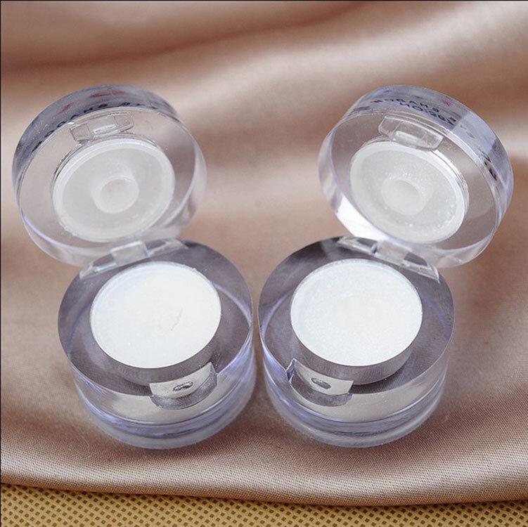 Nuovo di Marca 2 in 1 Eye Make Up Highlighter Brillante Luccichio della Polvere Viso Schiarire Il Pigmento di Colore Bianco Singolo Ombretto Tavolozze
