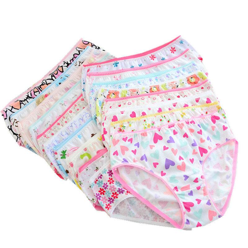 (24 Teile/los) 100% Baumwolle Mädchen Unterwäsche Chirdren Slips Höschen Kinder Unterwäsche 2-12 Jahre
