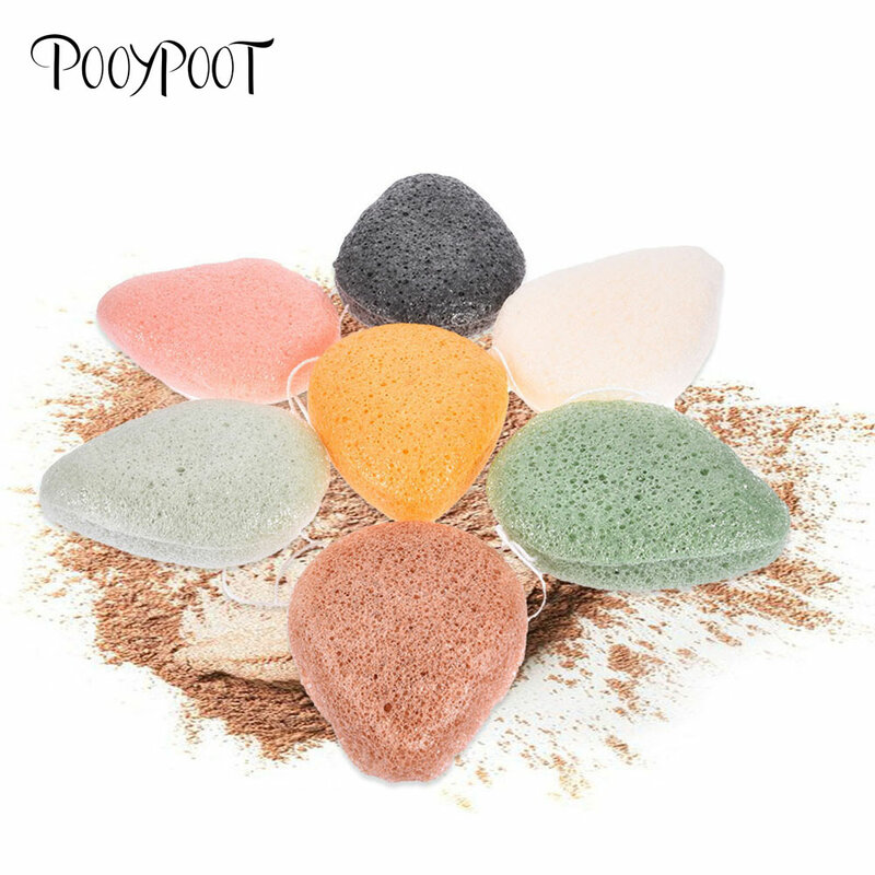 Pooypoot Natural Konjac Sponge Cosmetic Puff Face Exfoliator Wash