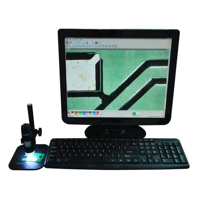 Microscope électronique numérique LED 50X à 500X USB, loupe caméra caméra pratique Microscope Endoscope noir