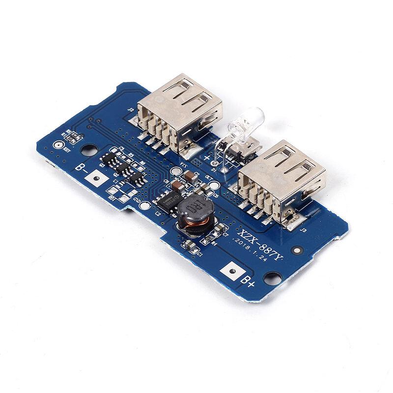 5V 2A 전원 은행 충전기 모듈 충전 회로 보드 스텝 업 부스트 전원 공급 장치 모듈 2A 듀얼 USB 출력 1A 입력