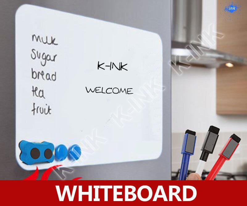 Pizarra magnética creativa, pizarra blanca suave como imán de nevera/rotulador de oficina/pegatina