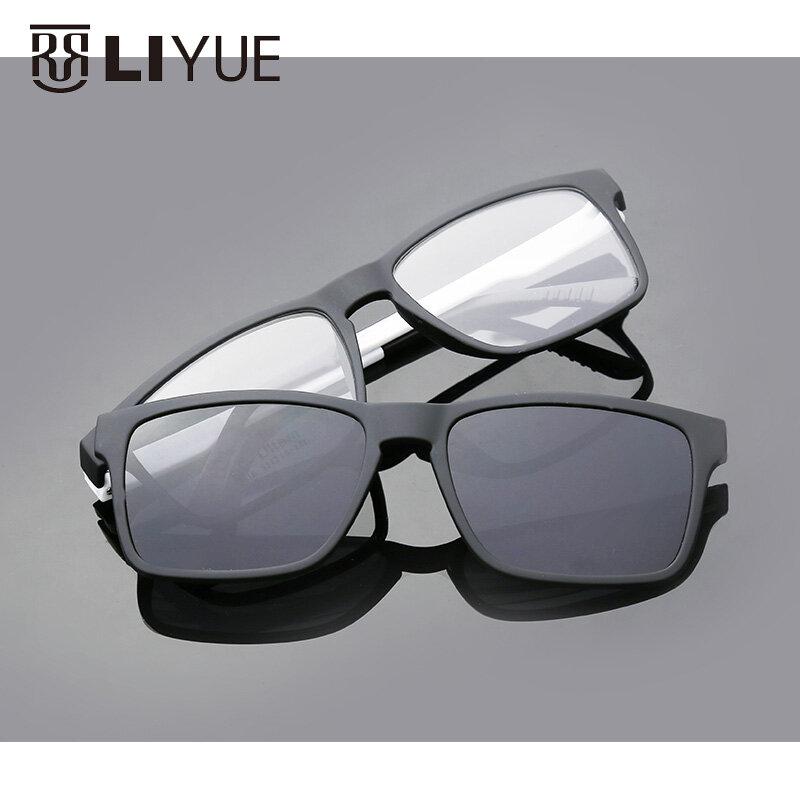 Diseñador De Marca De Anteojos Gafas De Sol Polarizadas Con Clip Magnético Montura De Gafas Graduadas Para Miopía Para Hombre Y Mujer Bestdealplus