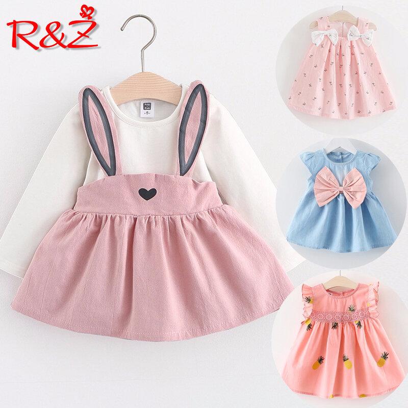 Newborn Baby Girls Bodysuit Short-Sleeve Onesie Ice Cream Print Outfit Spring Pajamas