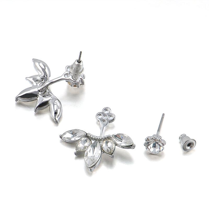 한국어 골드는 여성을위한 크리스탈 스터드 귀걸이 패션 진술 보석 귀걸이를 남겨주세요