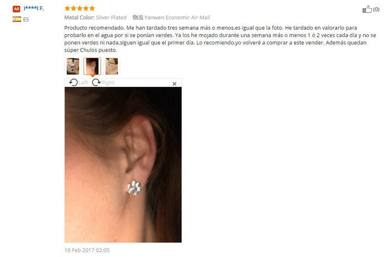 Jisensp Fashion Cute Paw orecchini per donna Bijoux Piercing gioielli Boho spazzolato gatto e cane stampa orecchini Kolczyki