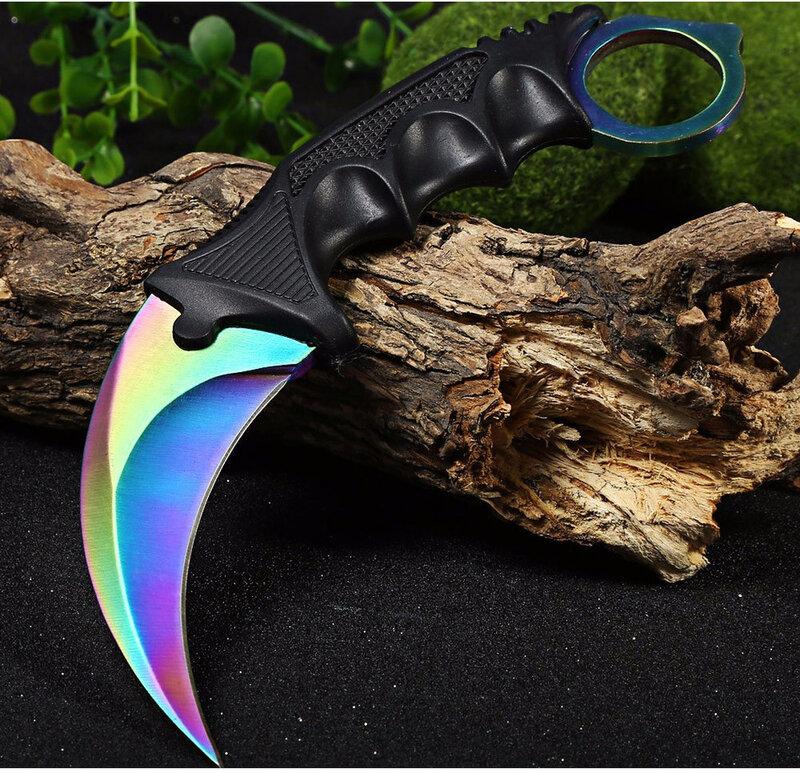 CSGO Messer Karambit Ausbildung Messer Feste Klinge Multi Messer mit Mantel Jagd Überleben Tasche Hals Messer CS KALTEN Drop Verschiffen