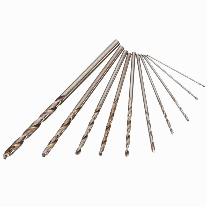 Di alta Qualità Mini Micro Alluminio Trapano A Mano Con Keyless Mandrino + 10x In Acciaio Ad Alta Velocità Punte Elicoidali Rotary Strumenti Strumenti di Legno di perforazione