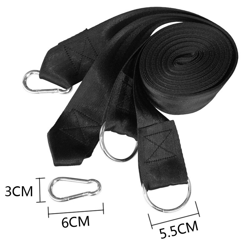 Essenziale Può Contenere 200kg di Campeggio Esterna Escursionismo Amaca Cintura Appesa Corda Cinturino in Amaca con Carico Fibbia In Metallo Corda Bind