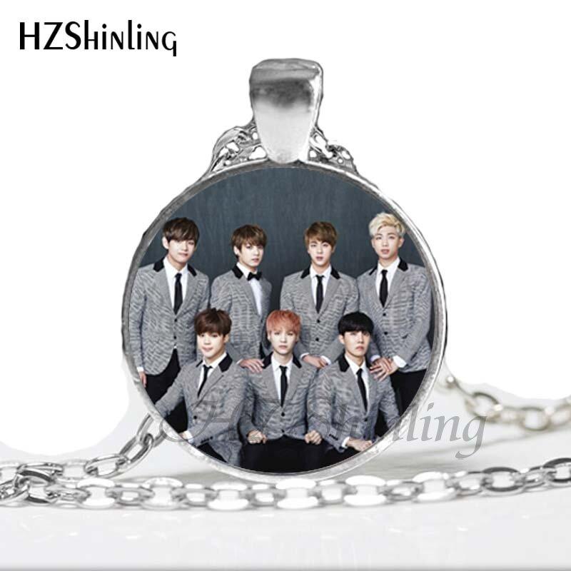 BTS Bangtan Boys handmade glass cabochon pendants and necklaces