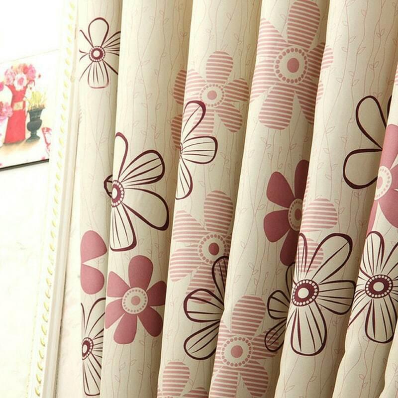 소박한 창 커튼 거실/침실 블랙 아웃 커튼 창 치료/커튼 홈 장식 튤립/잎/플로랄 패턴