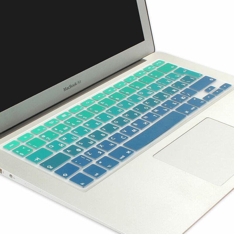 EU//US Silicon for MacBook Pro 13 Keyboard Cover Silicon A1706 A1708 A1989 English for MacBook Pro 13 Keyboard Film,EU Blue
