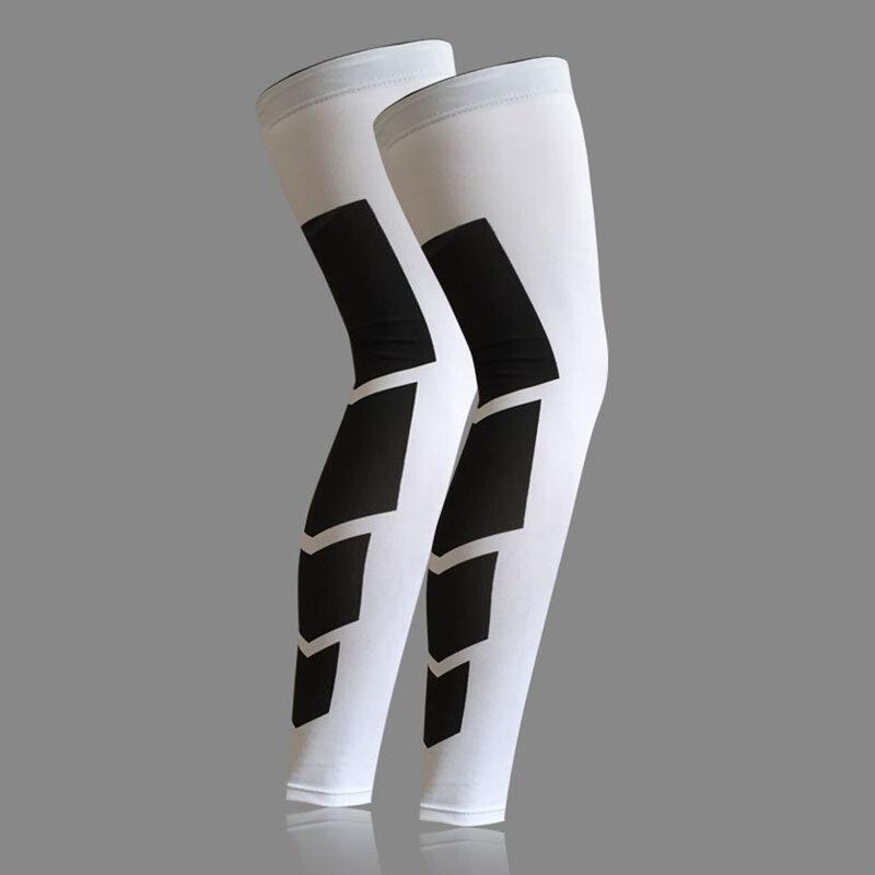 Calentadores de pierna de baloncesto superelásticos, Mangas de compresión para muslo, rodillera de fútbol, voleibol, ciclismo, 1 Uds.