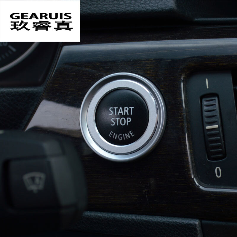Alu Alloy Engine Start Stop Button Cover Ring Trim For BMW 1 3 5 Series X1 X5 X6