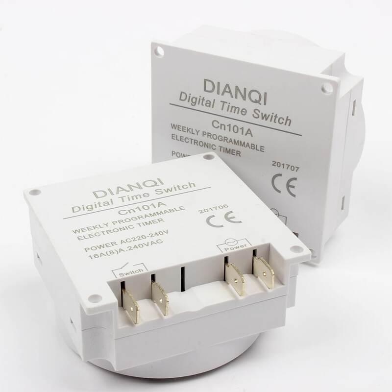 CN101A 220V 230V 240V Digitale LCD Power Timer wöchentlich 7 tage Programmierbare Zeit Schalter Relais TIMER 10A CN101 mini uhr licht timer