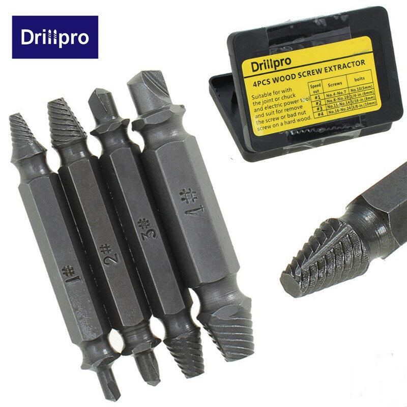 4 개/대 더블 사이드 손상 스크류 추출기 드릴 비트 리무버 볼트 스터드 도구 도매 가격