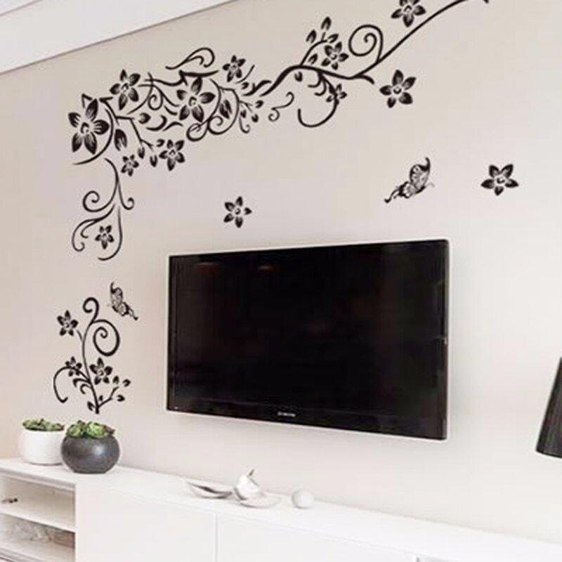 Autocollant mural romantique à motif floral, décor de maison, papier peint 3D, livraison gratuite