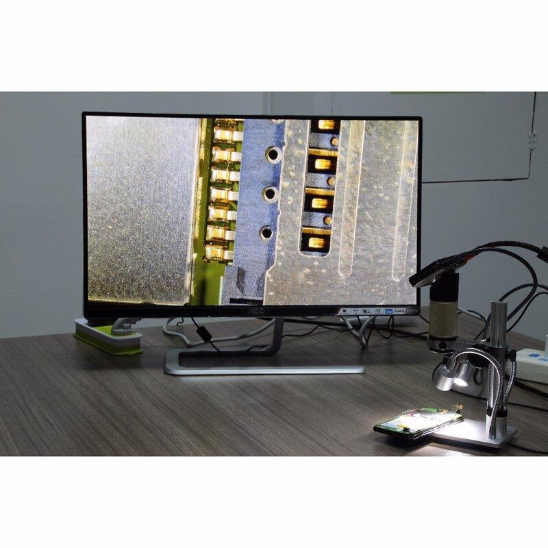 Microscope numérique d'usb de distance d'objet de microscope d'andonstar HDMI pour la montre de bga smt d'outil de soudure de réparation de téléphone portable
