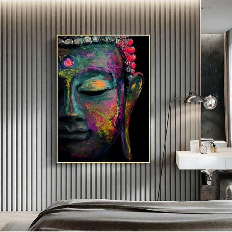 Aquarell Tier Leinwand bunte Ölgemälde Poster Bild Wand Kunst Dekor