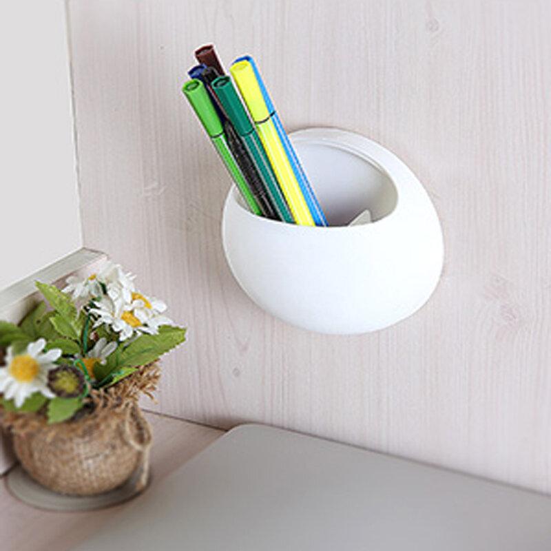 Organiseur de gobelets avec crochets muraux porte-brosse à dents, ventouse mignon, accessoires de salle de bain, support brosse à dents, ventouse de salle de bains