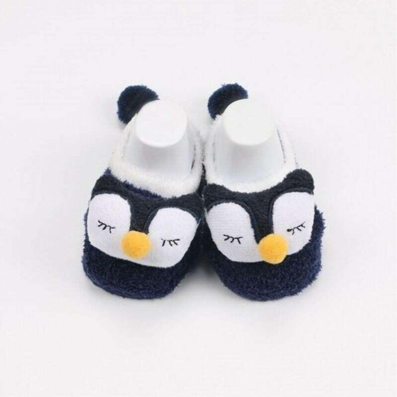 Chaussettes en molleton de corail pour bébé | Jolies chaussettes de dessin animé, à motif d'animal doux, chaussettes de sol pour garçons et filles