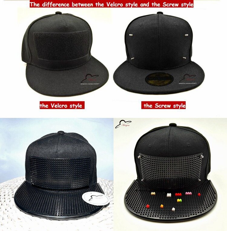 PVC Visor Baseball Cap Hat Harajuku Hip hop Baseball Embroidery Snap Back Ajustable Cute Sun Hat