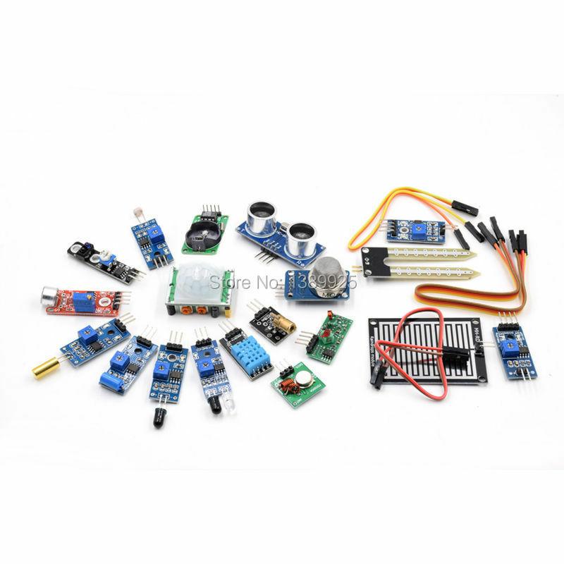 16 teile/los Raspberry Pi 3 & Raspberry Pi 2 Modell B die sensor modul paket 16 arten von sensor