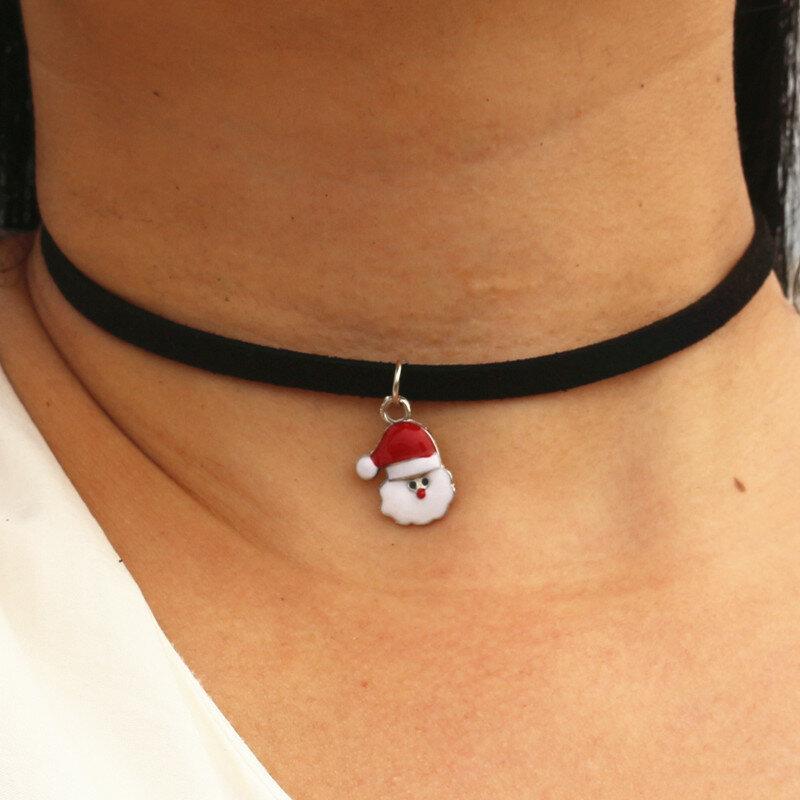 Años 90 inspirado Lolita gótica Punk collar, Gargantilla negra de terciopelo de Torques Steampunk joyería declaración Colar regalo de Navidad