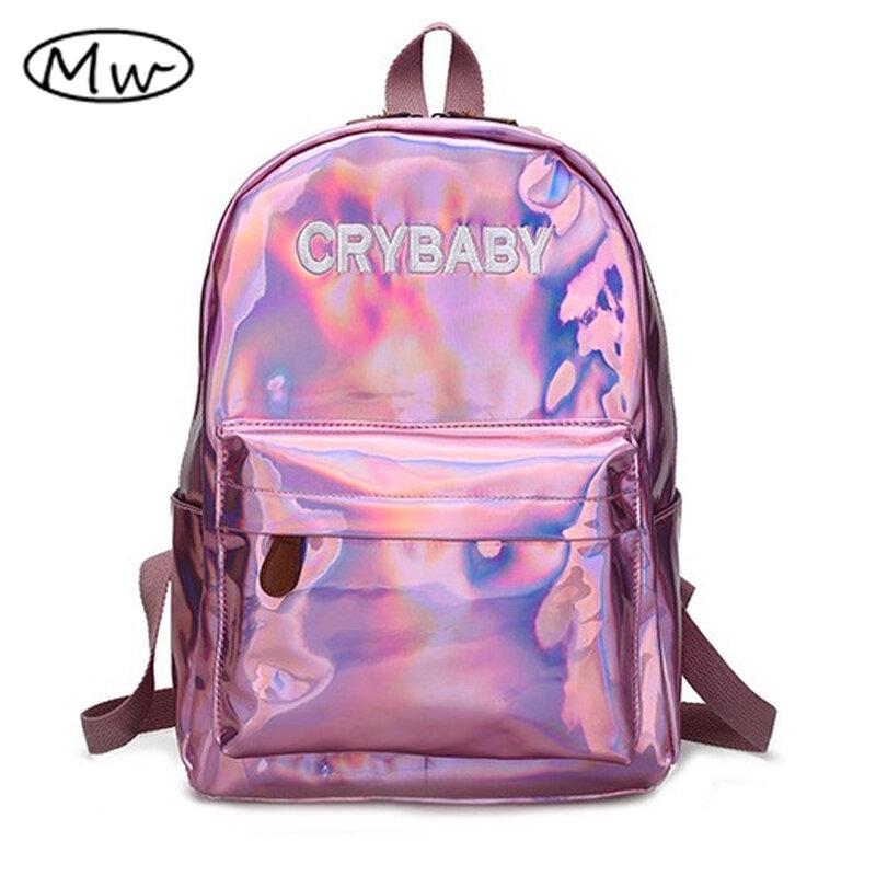 Moon Print School Bag Simple Canvas Women Casual Backpack Girls Laptop Rucksack