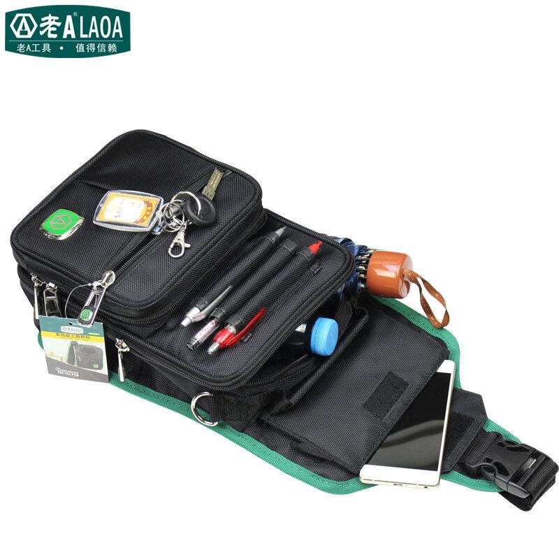 LAOA-حقيبة أدوات متعددة الوظائف ، حقيبة قماشية للكهربائي الميكانيكي ، جيب سفر مقاوم للماء