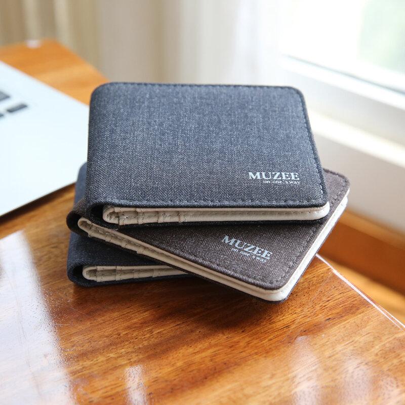 محفظة رجالية من القماش ، محفظة بسحاب ، تصميم جديد ، جيوب متعددة ، عصرية ، حامل بطاقات ، مجموعة جديدة