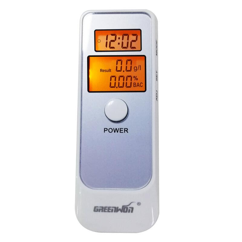 GREENWON-Analizador de alcohol alcoholímetro Digital LCD, probador de respiración