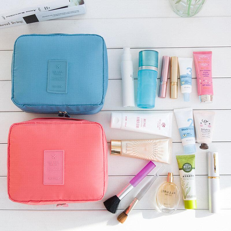 Estetista Cosmetico Necessaire Viaggio Delle Donne di Viaggio Da Toilette di Lavaggio Del Reggiseno Della Biancheria Intima di Trucco di Caso Cosmetico Sacchetto Dell'organizzatore Del Sacchetto di Accessori Articoli