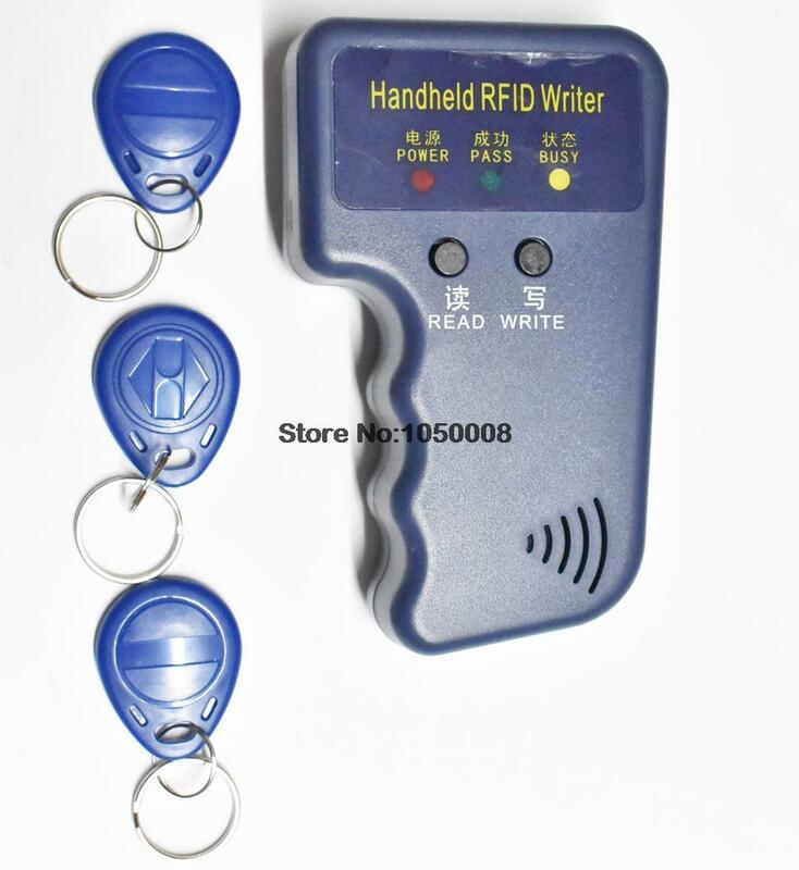 Handheld 125KHz RFID ID Card Reader & Writer/Kopierer/Duplizierer/Programmierer + 3 stücke EM4305 T5577 beschreibbare Tags Access Control