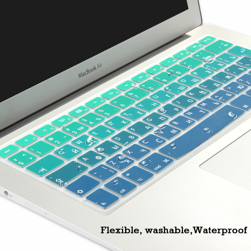 for MacBook pro13//11Air 13//15 Retina 12 inch All Series Silicone Keyboard Cover Transparent Clear protecter Film EU//US-B