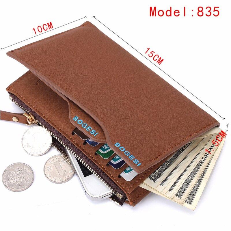 2019 패션 지갑 지갑 남성 수표 홀더 작은 돈 지갑 새로운 디자인 달러 슬림 지갑 머니 클립 지갑