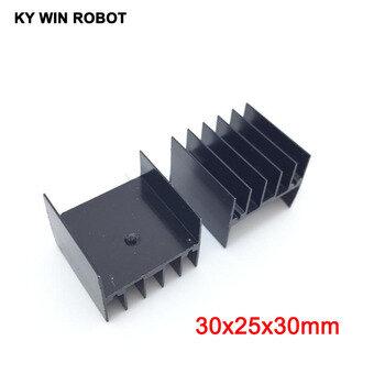 10pcs Aluminium Heat Sink Transistor Radiator for TO220 Triode 20*15*10M.z