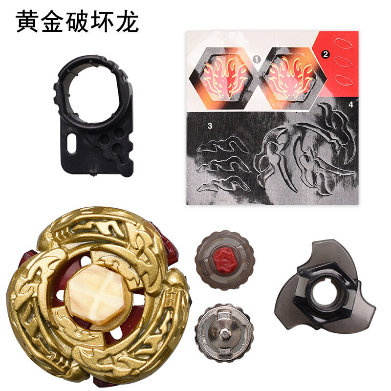 Kids Beyblade Toy Metal Fusion 4D Set L-Drago DF105LRF Launcher Gift With Gold