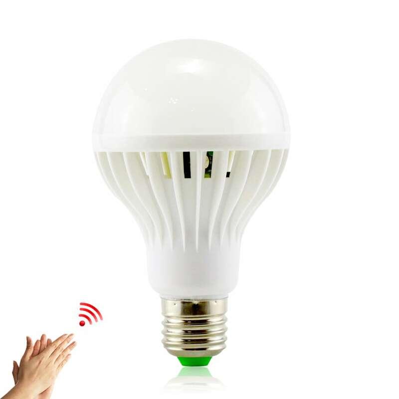 YNL E27 LED capteur de son lampe 220 v LED ampoule 3 w 5 w 7 w 9 w 12 w blanc Auto intelligent capteur de corps infrarouge lumière