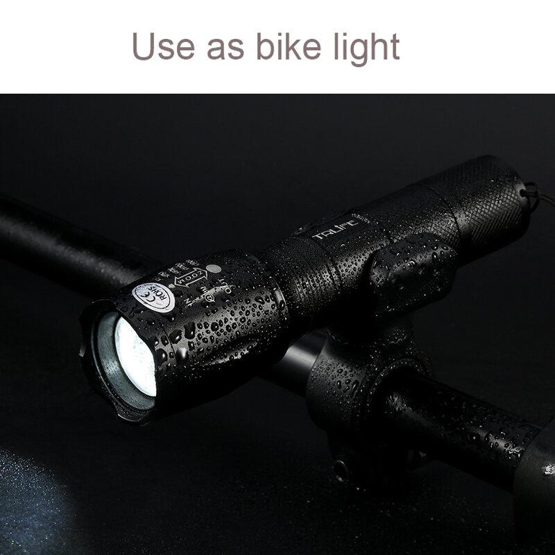 LED Lanterna V6 L2 Taktische Taschenlampe Zoomable-led-Licht Lampe 5 Modi Verwenden 3xAAA oder 1x 18650 akku