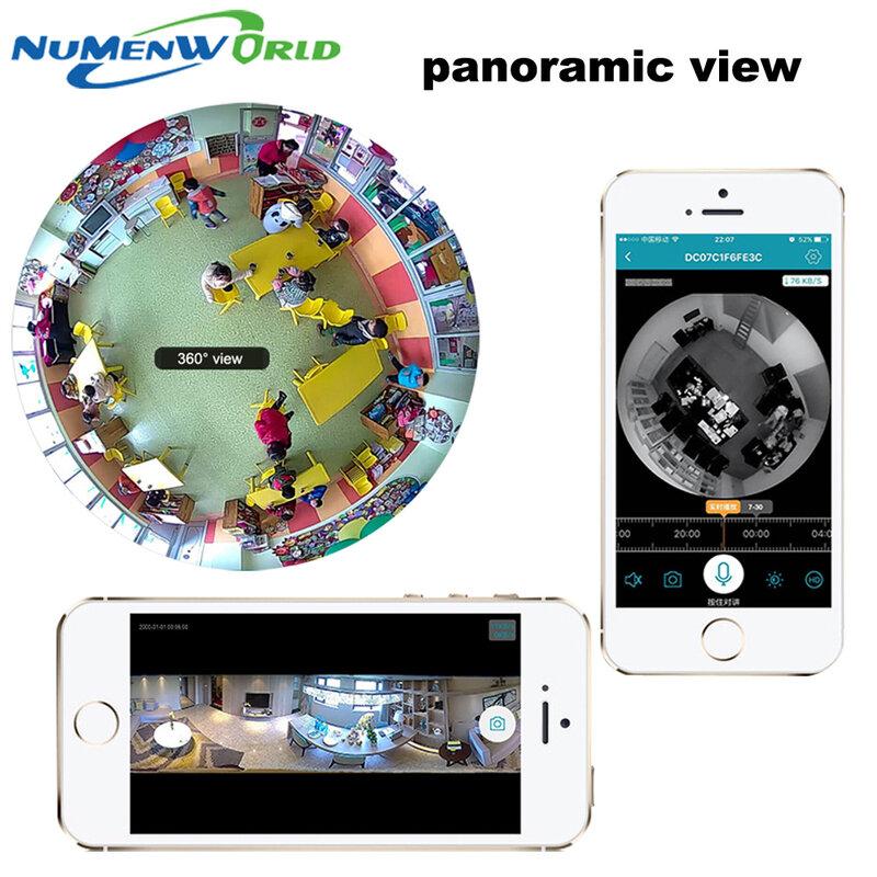 360 Gradi astuta panoramin IPC Wireless IP Fisheye Fotocamera Supporto Audio Bidirezionale P2P 960 P HD wifi della macchina fotografica