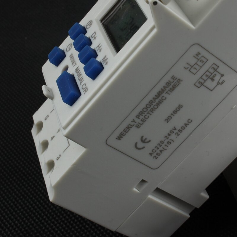 Tp8a16 Timer schalter din-schiene digital wöchentliche programmierbare elektronische mikrocomputer zeit schalter 220V 110V 30A 12V glocke ring relais