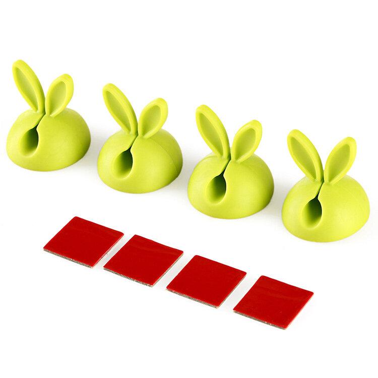 Kaninchen ohren daten linie fest gerät silica gel kabel wickler desktop viskose elektrische draht wicklung gerät großhandel ODF005