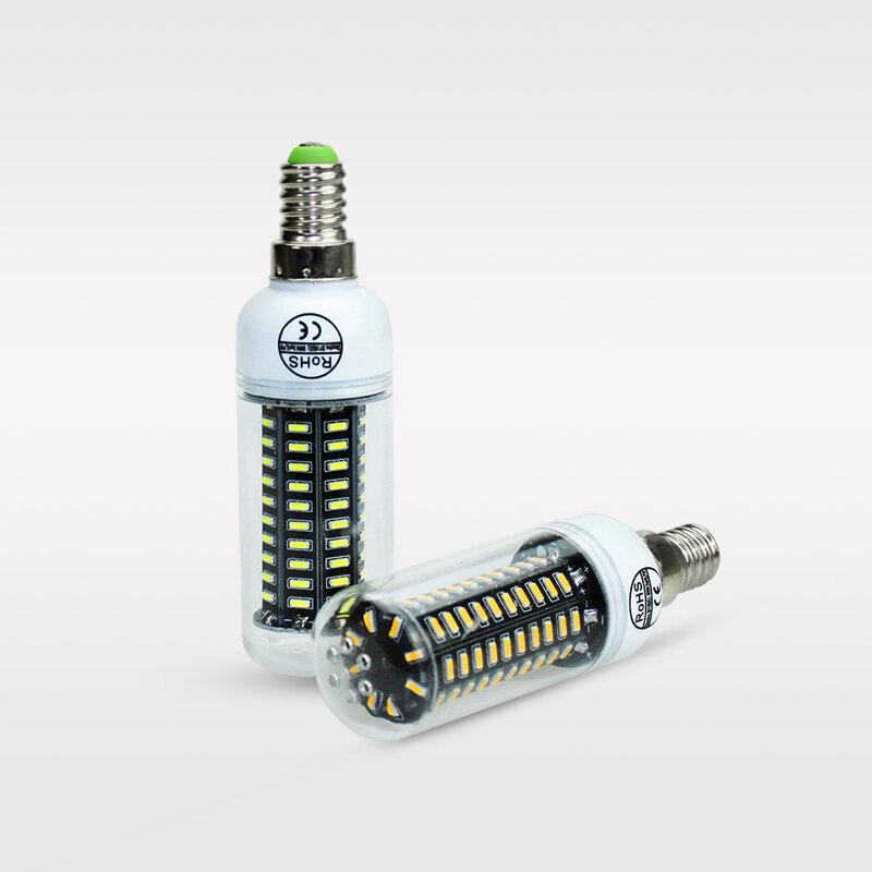 E14 LED E27 لمبة ليد على شكل ذرة 220 V 4014SMD LED الذرة لمبة إضاءة 38 55 78 88 140 المصابيح شمعة الثريا bombillas Lampada الإضاءة