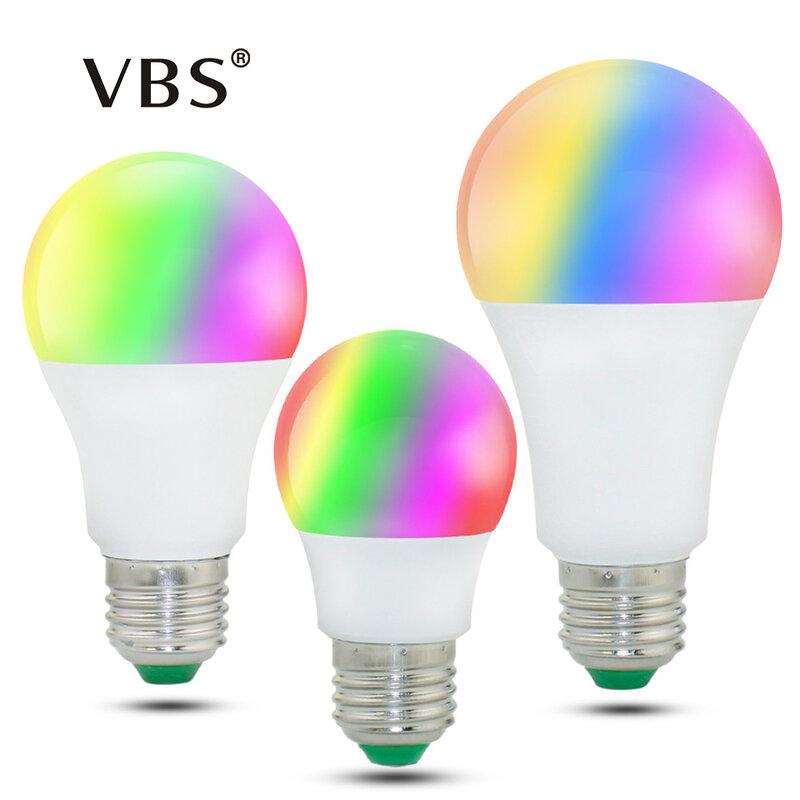 E27 LED RVB Ampoule Lampe AC110V 220 V 3 W E14 Spot Light Dimmable De Vacances Magiques RGB Éclairage IR Télécommande 16 Couleurs 270 degré