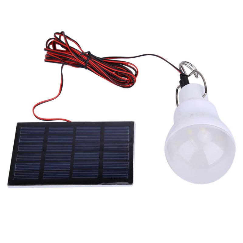 15W 130LM 태양 전지 패널 태양 전원 야외 조명 태양 램프 휴대용 전구 태양 에너지 램프 Led 조명 패널 캠프 낚시
