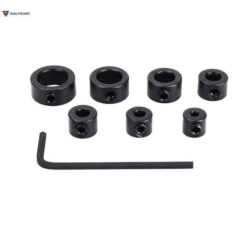 Herramientas de broca de 3-12mm, 8 unidades/juego, posicionador de anillo de tope de profundidad, localizador de anillo espaciado, herramientas de carpintería con guía de llave hexagonal