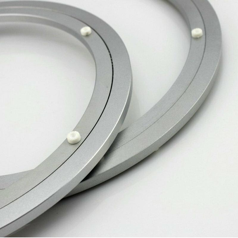 HQ H350 Dia exterior 350 MM (14 pulgadas) silencioso y suave de aluminio sólido de Lazy Susan mesa de comedor