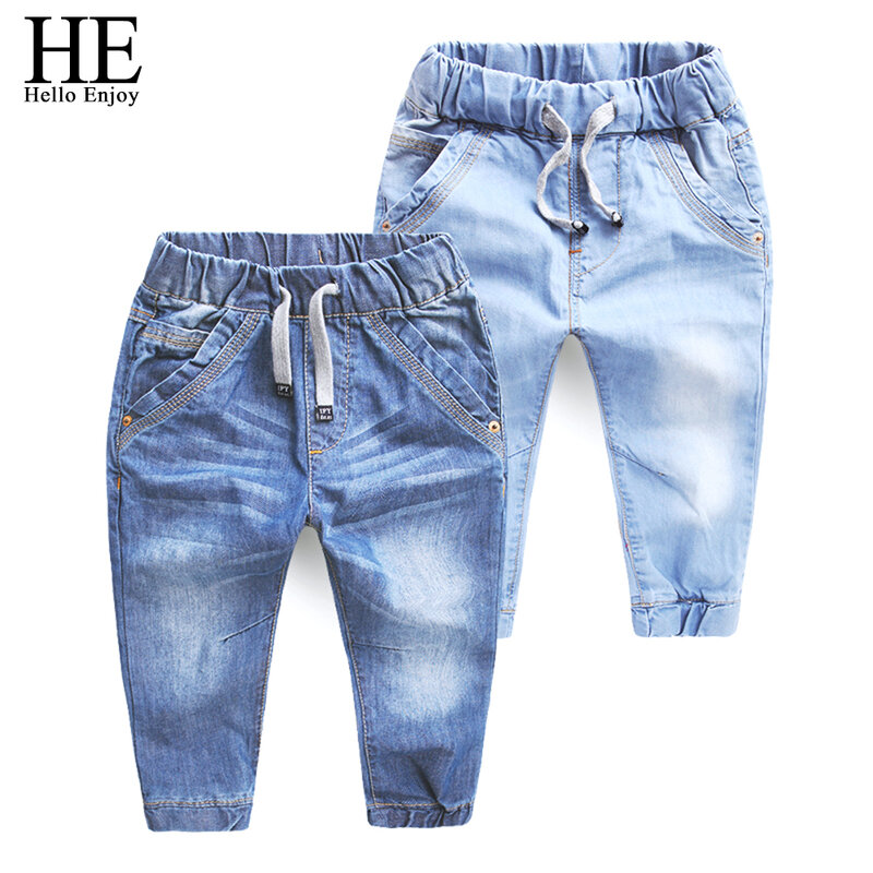 ER Hallo Genießen Mädchen jeans hosen frühling Herbst 2019 kinder kleidung jeans blau denim hosen beiläufige kurze hose Baby Kinder hose